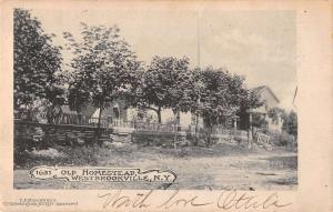 Westbrookville New York birds eye view old homestead antique pc Z11547