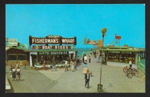 Fishermans Wharf Redondo Beach CA Unused c1950s