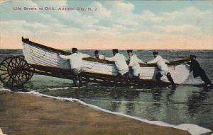 New Jersey Atlantic City Life Savers At Drill 1912
