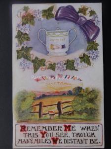 WW1 VICTORY Loving Cup REMEMBER ME c1916 Postcard by Gurney Series Paddington