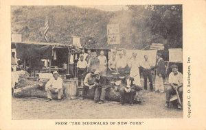 From the Sidewalks of New York Camping Scene Vintage Postcard JJ658879