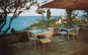 St Thomas Harbour Dining Terrace Water Isle Hotel & Beach Club 1960