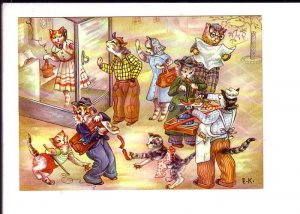 Dressed Cats, Reading, Stealing, Selling, Telephone Booth, E.K., Kruger