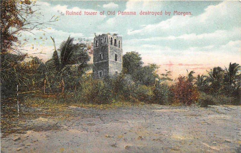 br106087 ruined tower of old panama destroyed by morgan