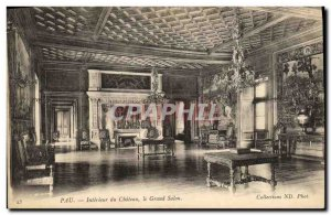 Old Postcard Pau Interior of Chateau Le Grand Salon