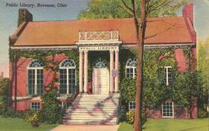 Public Library at Ravenna, Ohio - pm 1943 - Linen