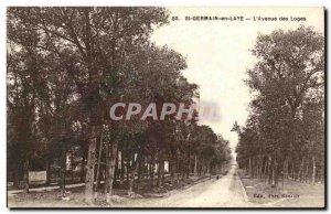 St Germain en Laye - L & # 39Avenue Lodges - Old Postcard