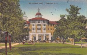The Carolina Lawn, Pinehurst, North Carolina, Hand Colored Postcard, Used