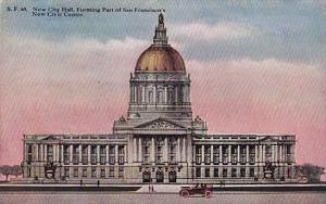 California San Francisco New City Hall Forming Part Of San Francisco