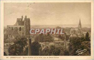 Postcard Old Abbeville Saint Vulfran and the city seen from Saint Gilles