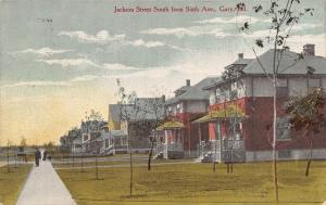 Gary Indiana~Jackson Street Homes~South From 6th Avenue~Folks on Porch~1909 PC