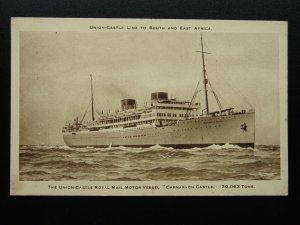 Union Castle Line CARNARVON CASTLE ROYAL MAIL SHIP c1930s Postcard