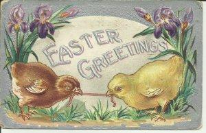 Easter Greetings  ---EMBOSSED
