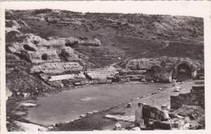 RP: Aerial View, Ruins of Le Theatre Romain, Carthage, Tunisia, Africa