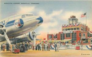Aircraft Municipal 1930s Nashville Tennessee Associated Colorpicture 7905