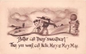 BETTER CALL THEM SWEETHEART~TOM YAD ( ALIAS COBB SHINN ) ARTIST SIGNED POSTCARD
