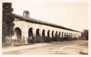 LPS19 Mission Hills California Mission San Fernando Postcard RPPC