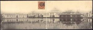 japan, TOKYO, Industrial Exhibition (1909) 2x Panorama Postcard, Stamps