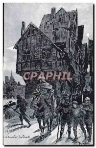 Old Postcard Old Paris The watch Knight