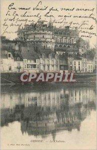 Postcard Old Amboise Le Chateau (map 1900)
