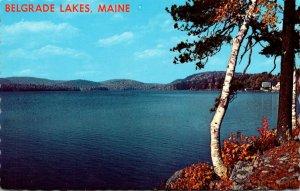 Maine Belgrade Lakes View Along The Shore