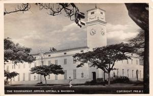 Zimbabwe, S. Rhodesia, The Government Offices, Umtali, auto, car