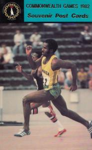 Don Quarrie Jamaica 100 Metres Athletics 1982 Commonwealth Games Postcard