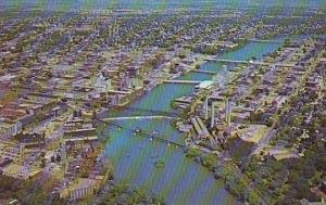 Illinois Rockford Aerial View Of Business Section