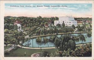 Florida Jacksonville Confederate Park Showing New Masonic Temple