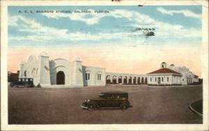 Orlando FL ACL RR Train Station c1920s Postcard