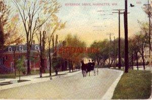1912 RIVERSIDE DRIVE, MARINETTE, WIS.  horsedrawn carriage