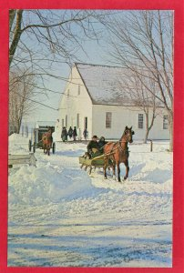 MENNONITE SLEIGHS AT CHURCH, HEART OF DUTCHLAND SEE SCAN  103
