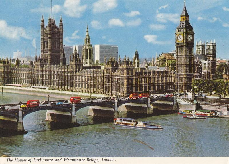 Postal 61800 : The Houses of Parliament and Westminster Bridge London