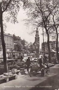 RP, Singel Met Muttoren En Bloemenmarkt, Amsterdam, Netherlands, PU-1959