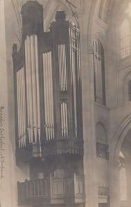 The Organ at Dunedin Cathedral New Zealand Antique Postcard