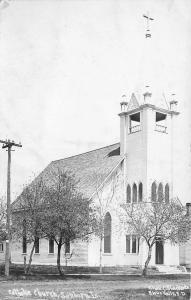 Sanborn IA Roman Catholic Church~Dausch 1st Communion~Father McCormick RPPC 1910