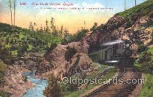Cow Creek Canyon, Oregon, Usa Train Trains Locomotive, Steam Engine,  Postcar...
