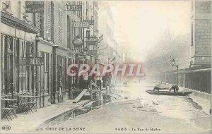 Old Postcard Crue of the Seine Paris La Rue Buffon