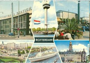 Netherlands, Rotterdam, multi view 1960s unused Postcard