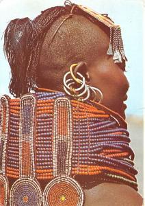 Kenya Africa, Afrika Necklaces of a Turkana Girl Kenya Necklaces of a Turkana...