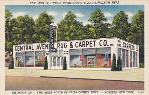 New York Yonkers Central Avenue Rug & Carpet Company Advertising