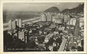 brazil, RIO DE JANEIRO, Copacabana (1950s) Real Photo