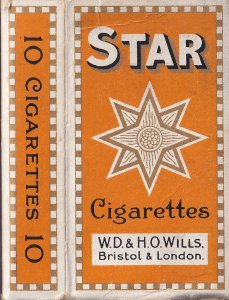Star Cigarettes Antique Cigarette Packet Box