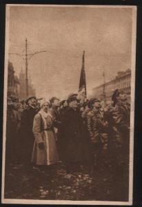 102062 LENIN on Red Square Vintage Mezhrabpom PC