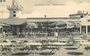 Artvue El Rancho Hotel Fresno California 1930s postcard 7086