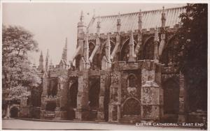 England Exeter Cathedral East End Real Photo