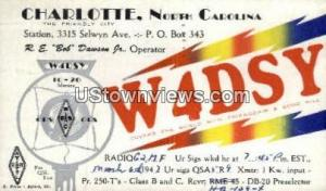 Charlotte, North Carolina, NC, Post Card Charlotte NC 1947 Missing Stamp