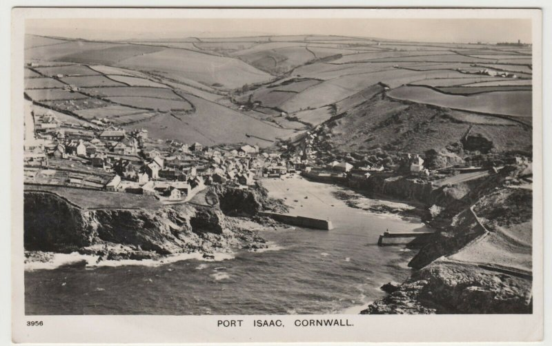 Cornwall; Port Isaac, Cornwall Aerial View RP PPC By Aero Pictorial, Unused