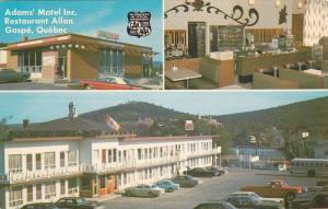 3-Views,  Adams Motel Inc., & Allan's Restaurant, Gaspe,  Quebec,  Canada,  P...