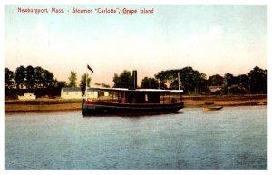 Massachusetts  Newburyport Steamer Carlotta, Grape Island